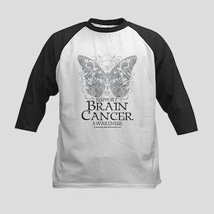 Brain Cancer Butterfly Kids Baseball Jersey
