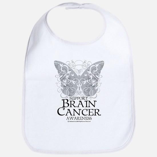 Brain Cancer Butterfly Bib