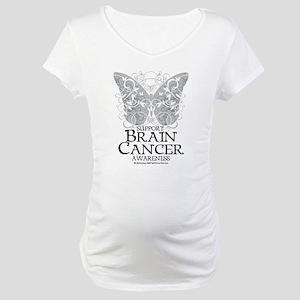 Brain Cancer Butterfly Maternity T-Shirt