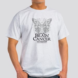 Brain Cancer Butterfly Light T-Shirt