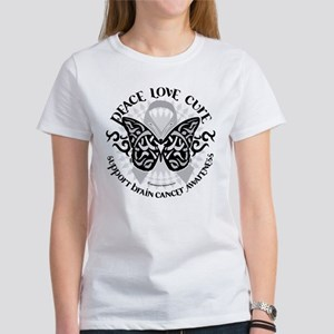 Brain Cancer Butterfly Tribal Women's T-Shirt