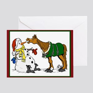 Holiday Snowman Greeting Card