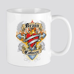 Brain Cancer Cross & Heart Mug