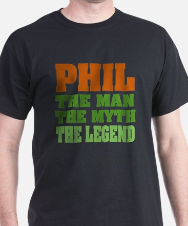 PHIL - The Legend Black T-Shirt