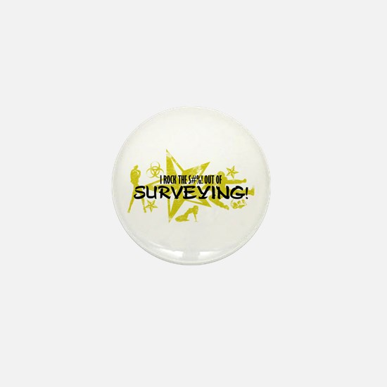 I ROCK THE S#%! - SURVEYING Mini Button