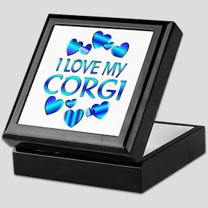 Corgi Keepsake Box