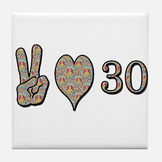 Cute Happy 30th birthday Tile Coaster