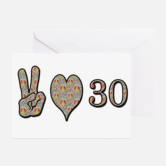 Cute 30th birthday Greeting Cards (Pk of 10)