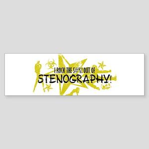I ROCK THE S#%! - STENOGRAPHY Sticker (Bumper)