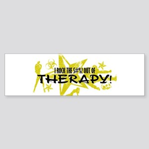 I ROCK THE S#%! - THERAPY Sticker (Bumper)
