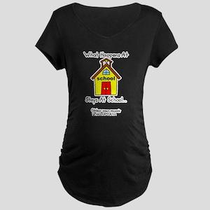 PTA Mom Maternity Dark T-Shirt