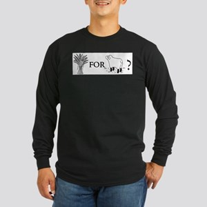 Wheat for Sheep Long Sleeve Dark T-Shirt