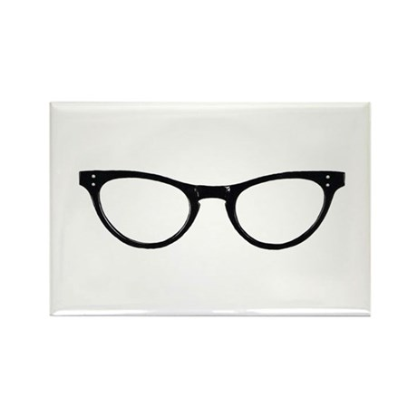 Librarian Glasses Rectangle Magnet