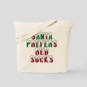Santa Prefers Red Socks Funny Tote Bag