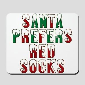 Santa Prefers Red Socks Funny Mousepad