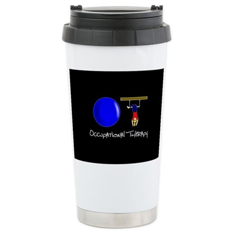 O and T Stainless Steel Travel Mug