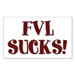 FVL Sucks! Sticker (Rectangle 50 pk)