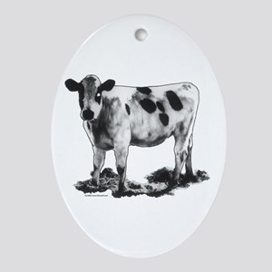 Spotted Cow Ornament (Oval)