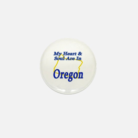 Heart & Soul - Oregon Mini Button