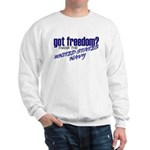 Got Freedom? Navy Sweatshirt