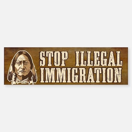 Illegal Immigration Sticker (Bumper)