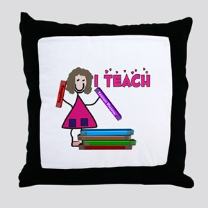 Stick People Occupations Throw Pillow