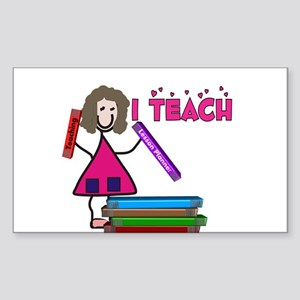 Stick People Occupations Sticker (Rectangle 10 pk)