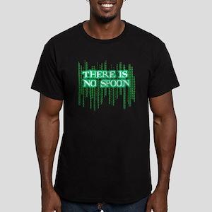 No spoon - Matrix Men's Fitted T-Shirt (dark)