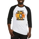 Firefighter Skull and Flames Baseball Jersey