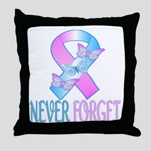 Pregnancy & Infant Loss Ribbon Throw Pillow