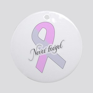 Pregnancy & Infant Loss Ribbon Ornament (Round