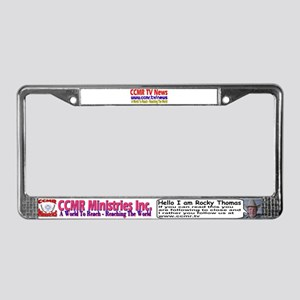 CCMR TV News License Plate Frame