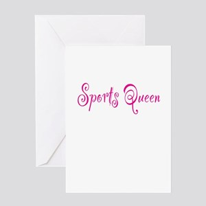 Sports Queen Greeting Card