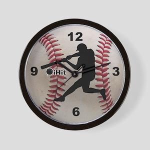 Baseball ihit Wall Clock