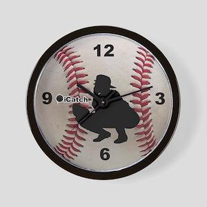 Baseball icatch Wall Clock