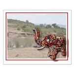 Beaded African Elephant Small Poster