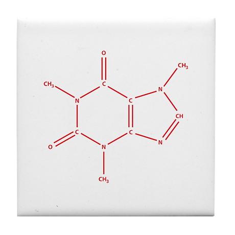 The Caffeine Molecule Tile Coaster