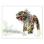 Beaded African Lion Poster