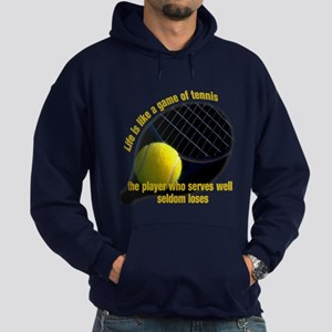 Life is like a game of tennis Hoodie (dark)