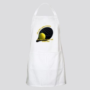 Life is like a game of tennis Apron