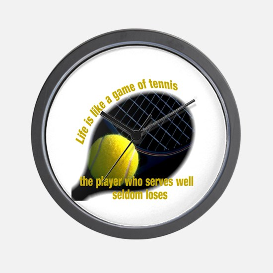 Life is like a game of tennis Wall Clock