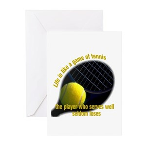 6d73bd38c5a Sports Tennis Greeting Cards - CafePress