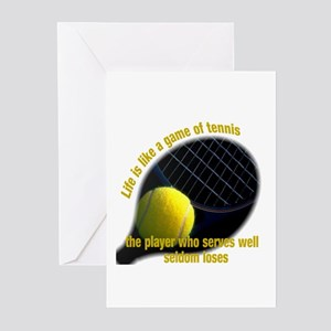 Tennis greeting cards cafepress life is like a game of tennis greeting cards pk o m4hsunfo Choice Image