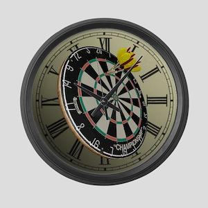 Dartboard Large Wall Clock