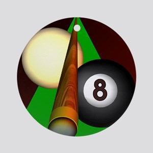 Eight Ball Ornament (Round)