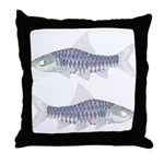 Congo Barb Inverse Line draw Throw Pillow