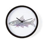 Congo Barb Inverse Line draw Wall Clock