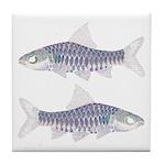 Congo Barb Inverse Line draw Tile Coaster
