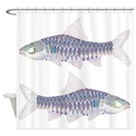 Congo Barb Inverse Line draw Shower Curtain