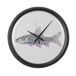 Congo Barb Inverse Line draw Large Wall Clock